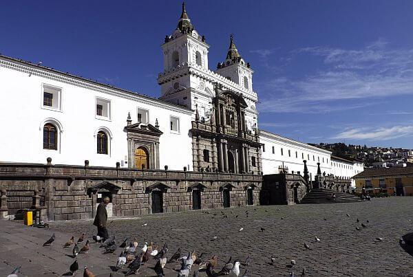 San Francisco church plaza colonial Ecuador