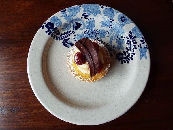 dessert at Rosewood Puebla Hotel