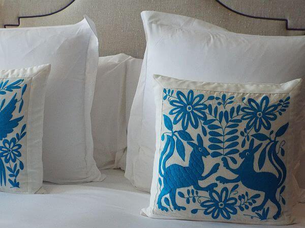 Rosewood Puebla artisan pillows