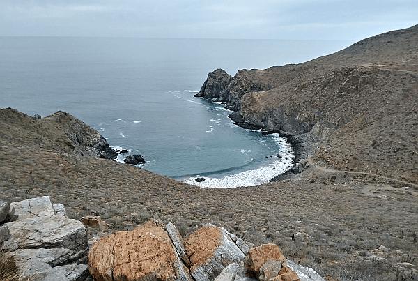 hiking near Todos Santos in Baja