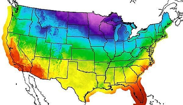December weather in USA