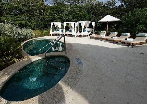 Away spa pool area