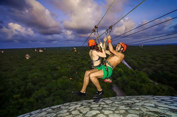 zipline excursions Cancun