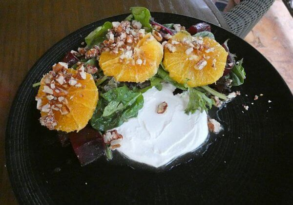 salad at Casa de Piedra Restaurant Merida