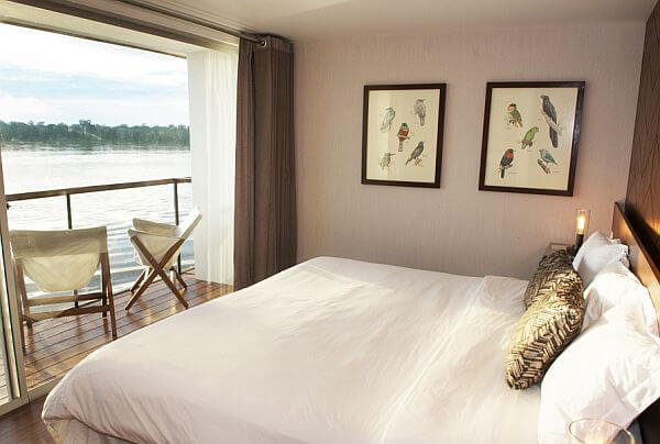 Amazon luxury river cruise Zafiro room
