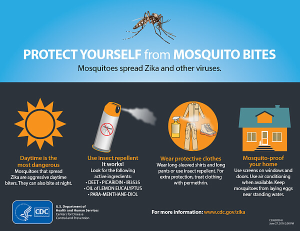 CDC mosquito recommendations